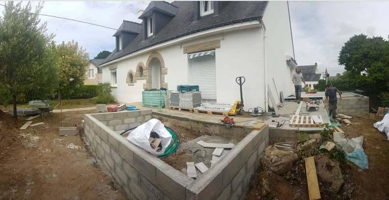 aménagement terrasse en Morbihan