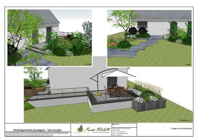 Aménagement d'un jardin urbain en Morbihan